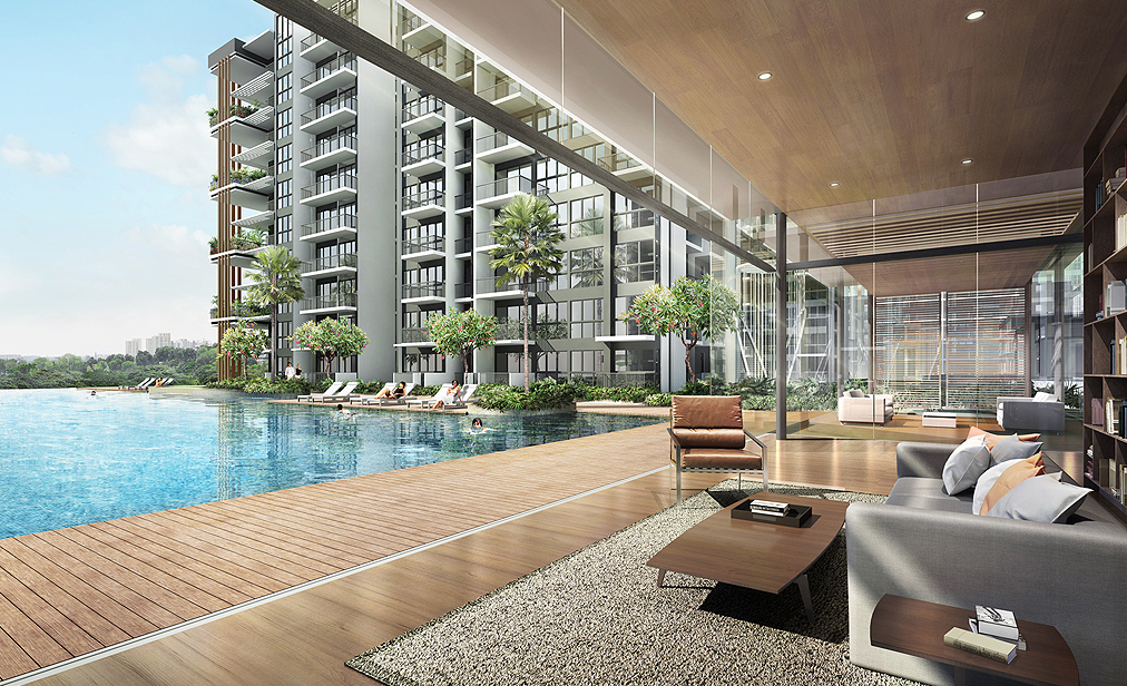 Northpark residences clubhouse view