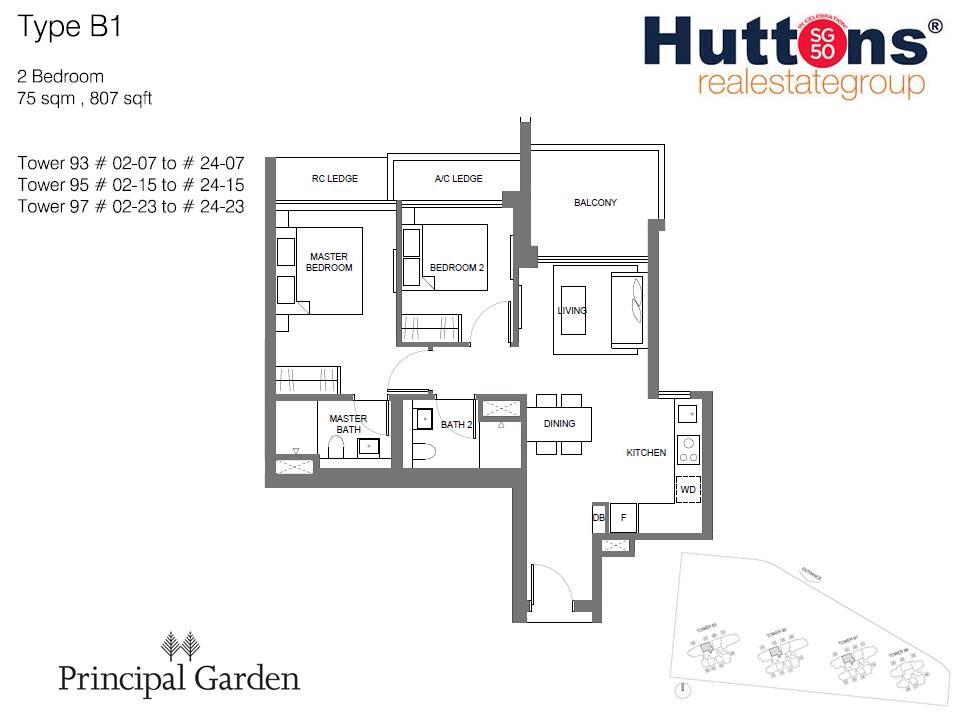 principal garden 2br floorplan
