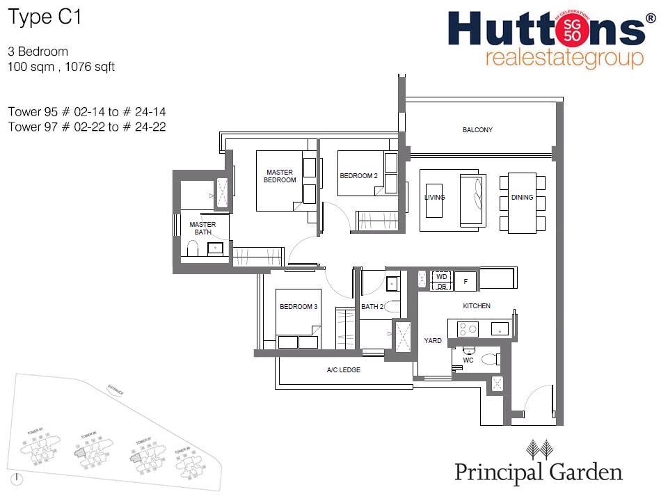 Principal garden 3br floorplans